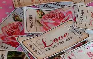 Vintage Valentine tickets
