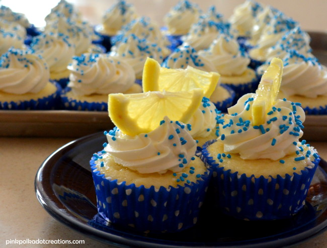 Lemon Filled Blueberry Cupcakes