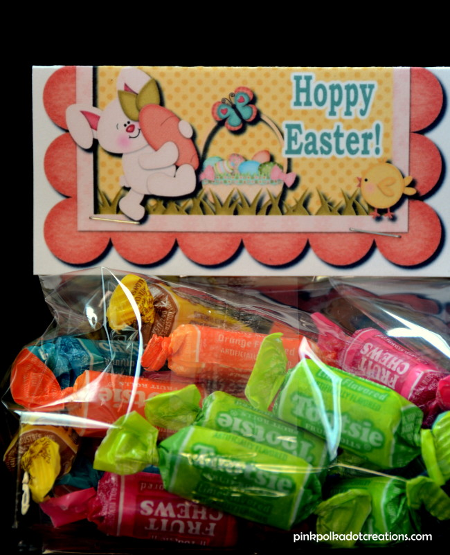 Hoppy Easter bag topper