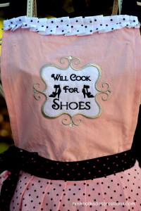 Will cook for shoes-apron