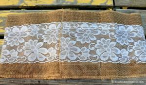 burlap pillow wrap-back