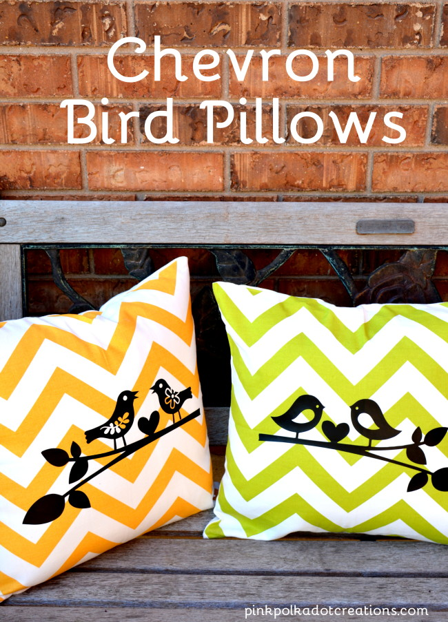 Chevron bird pillows