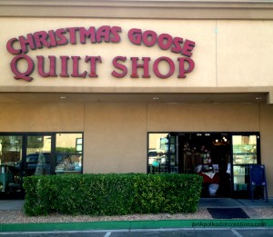 The Christmas Goose quilt shop