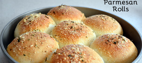 easy rosemary garlic Parmesan rolls