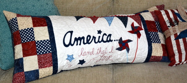 America...Land that I love pillow