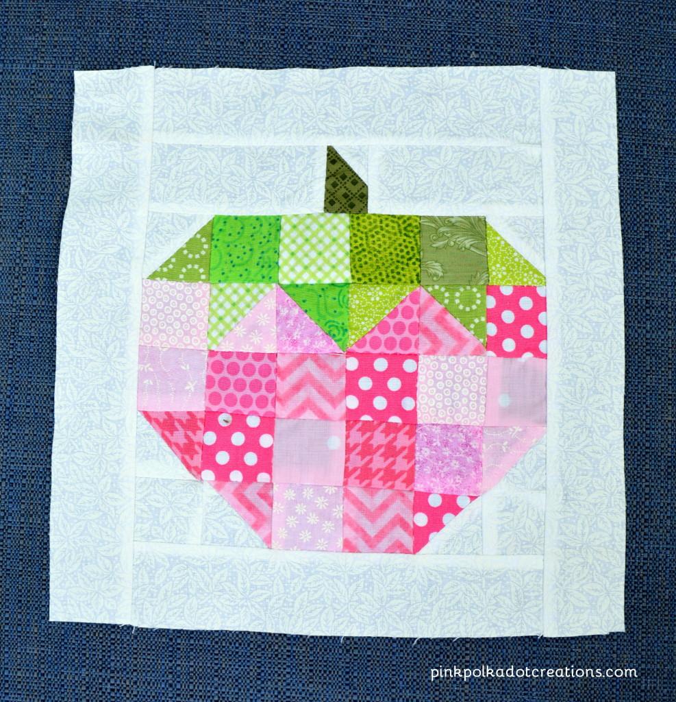strawberry quilt block
