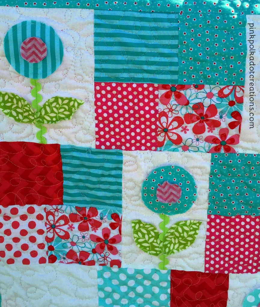 Baby Cakes Quilt Pink Polka Dot Creations