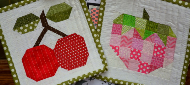 quilt block hot pads