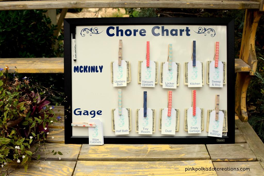 diy magnet board chore chart