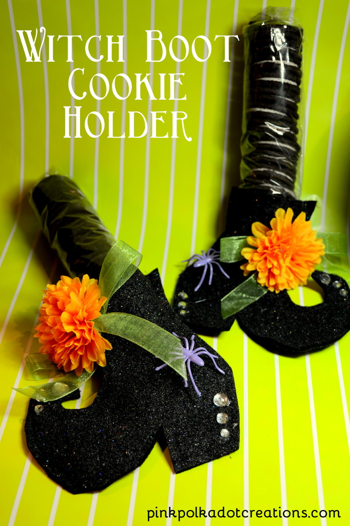 witch boot cookie holder