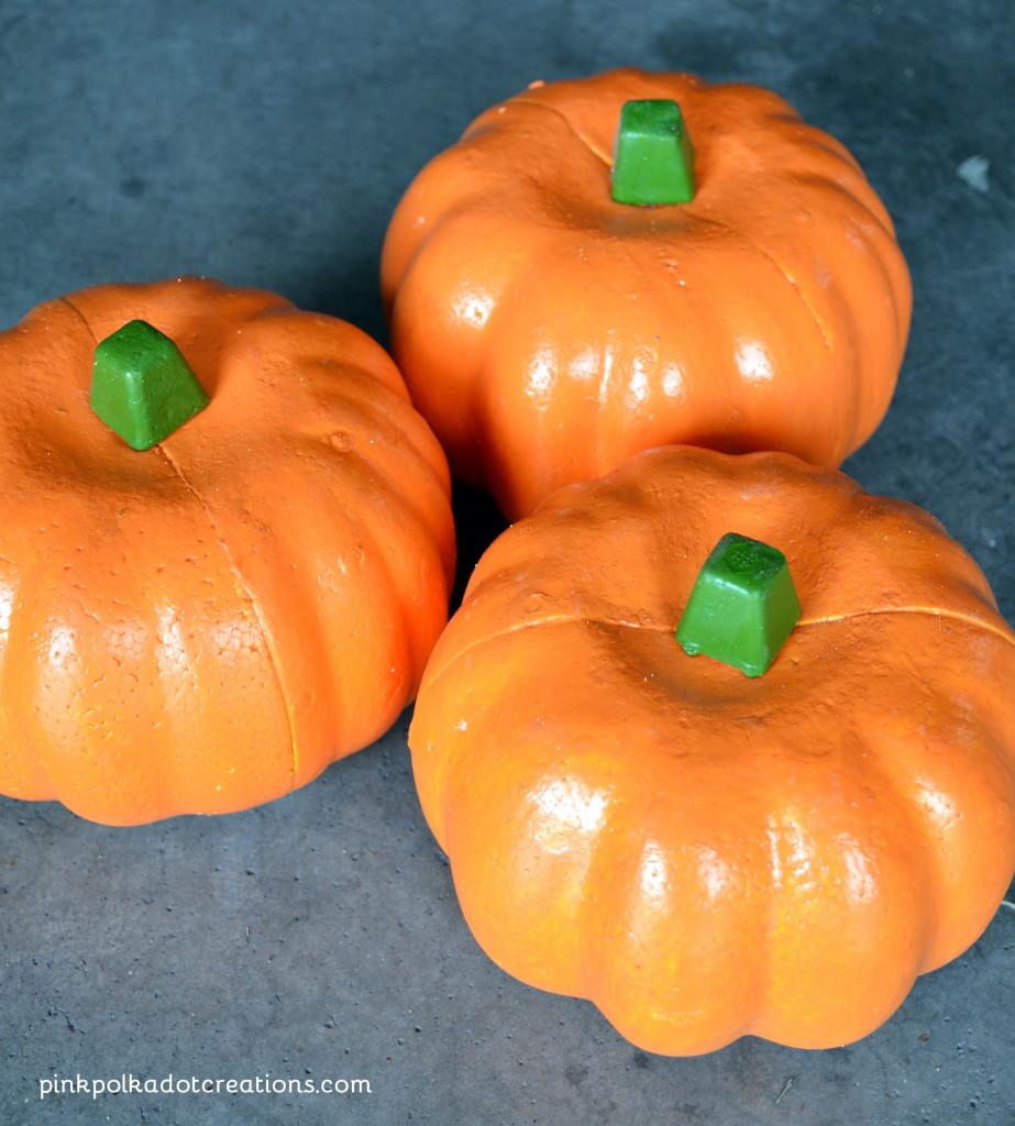 candlestick pumpkins