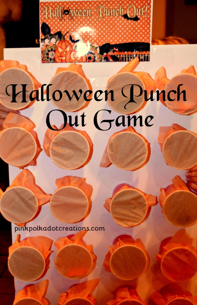 Classroom Game Ideas For Adults ~ Halloween punch out game pink polka dot creations