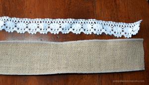 burlap and lace ribbon