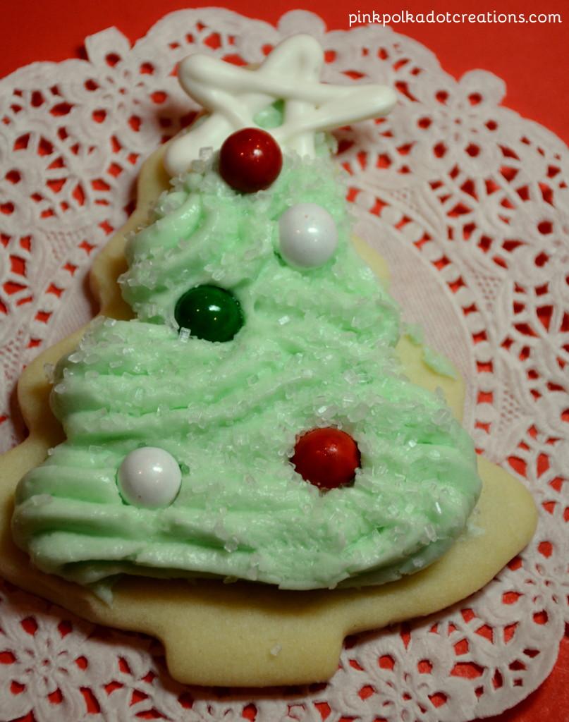 Christmas Tree Sugar Cookies - Pink Polka Dot Creations