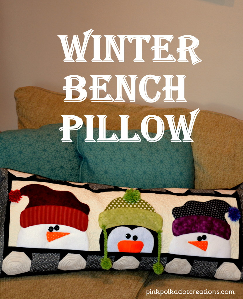 winter bench pillow