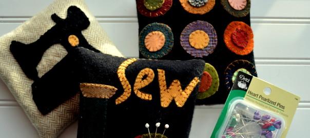wool pin cushions