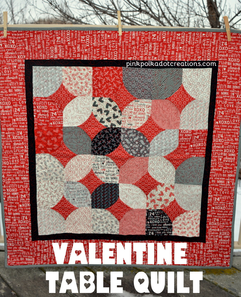 Valentine Table Quilt