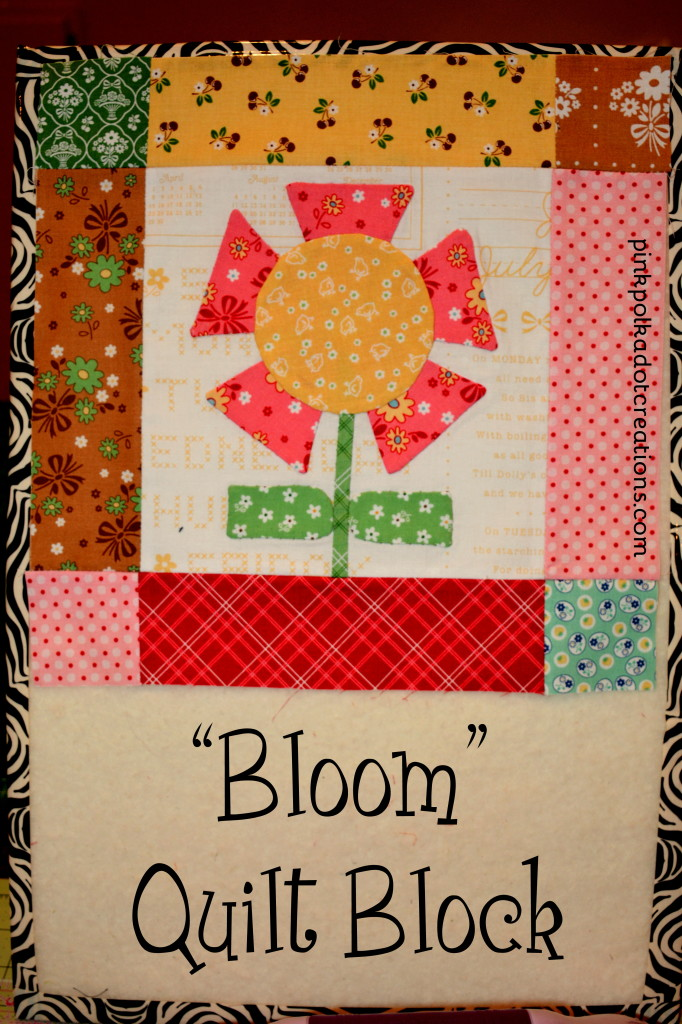 bloom quilt block