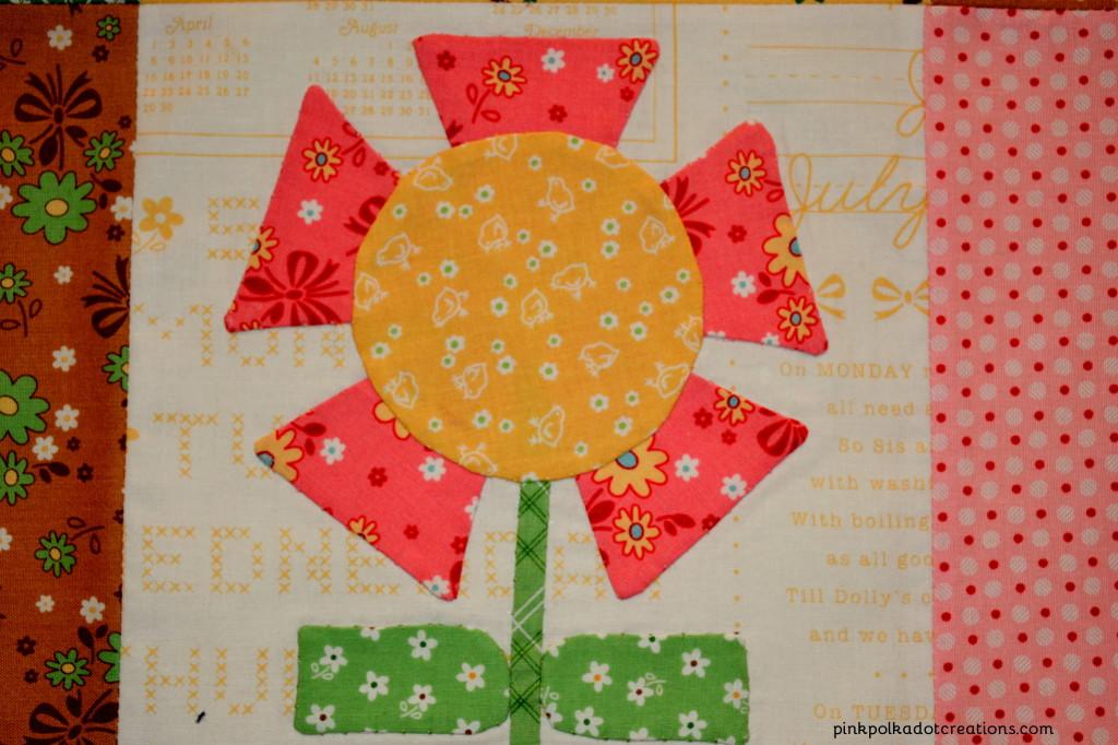 bloom quilt block