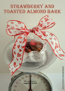 strawberry and toasted almond bark