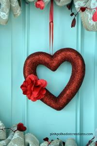 burlap valentine wreath
