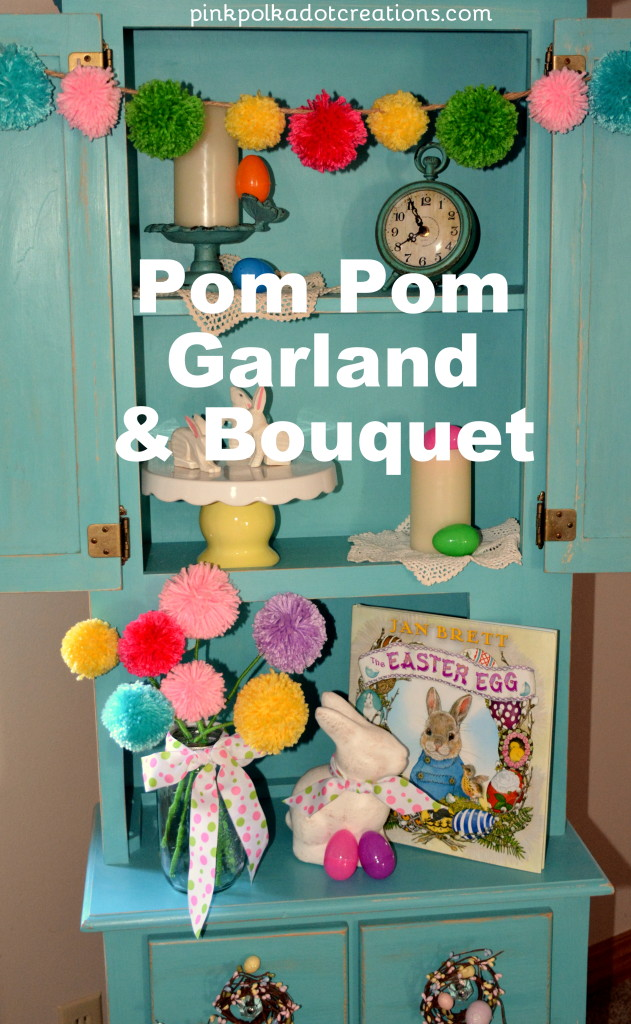 pom pom garland and boquet