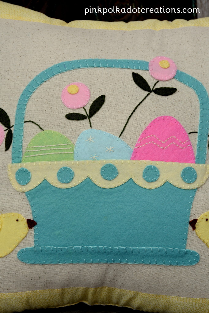 Wool Easter Pillow
