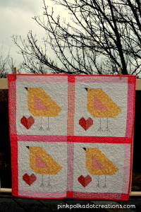chick Easter quilt