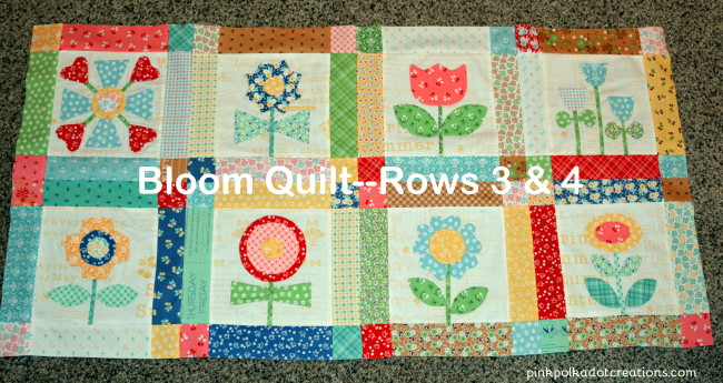 bloom quilt rows 3 & 4