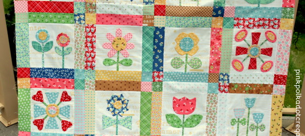 bloom quilt rows 1, 2, 3 & 4