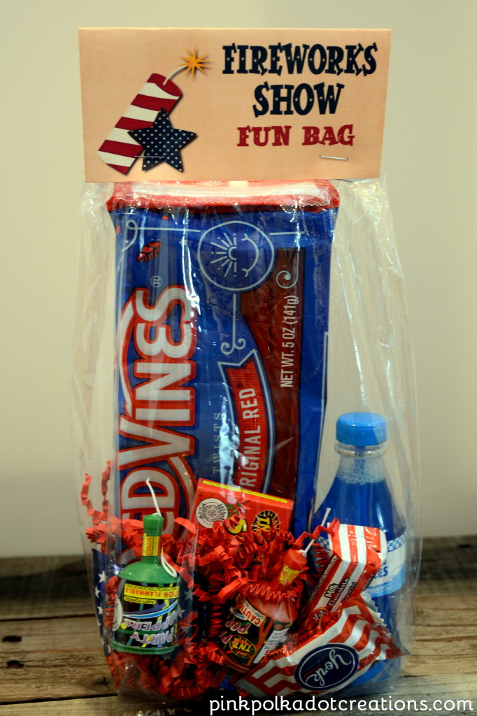 fireworks and parade bags