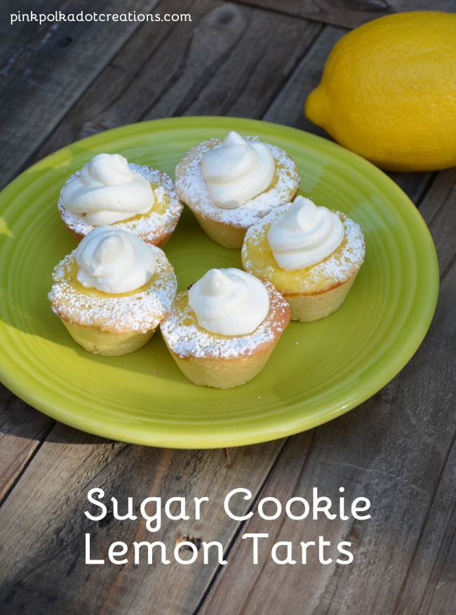 Sugar Cookie Lemon Tarts - Pink Polka Dot Creations