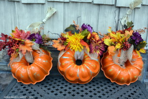 pumpkin bundt pan wreath