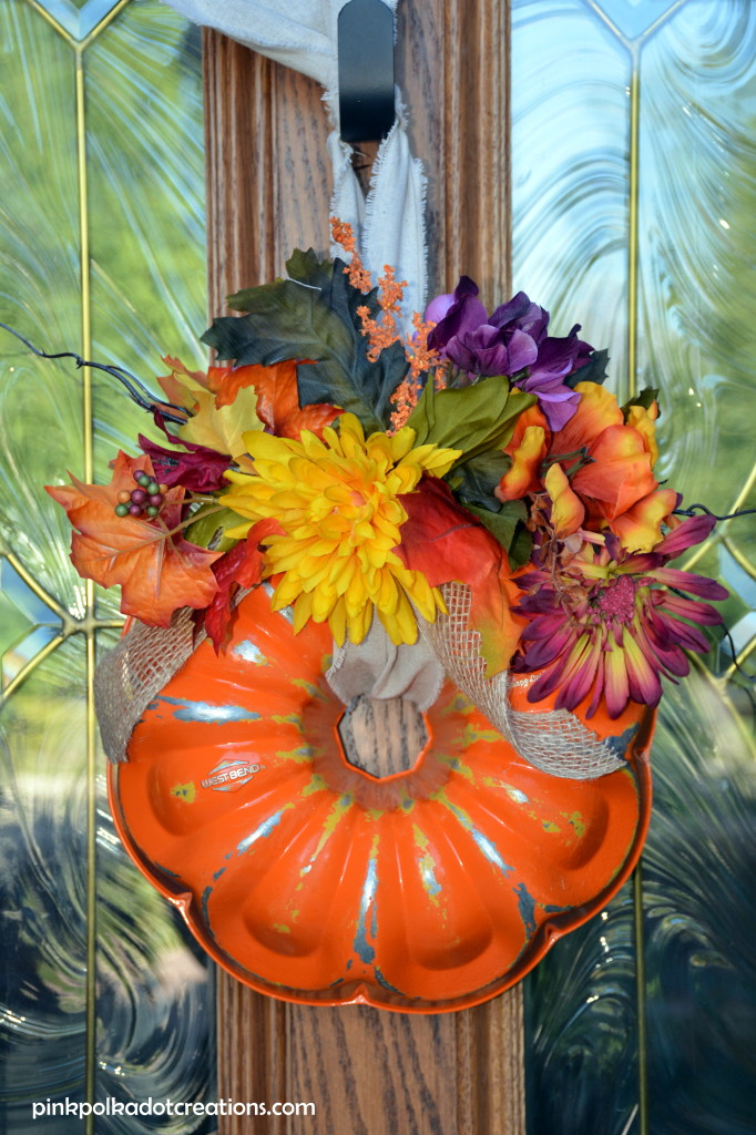 bundt pan pumpkin wreath