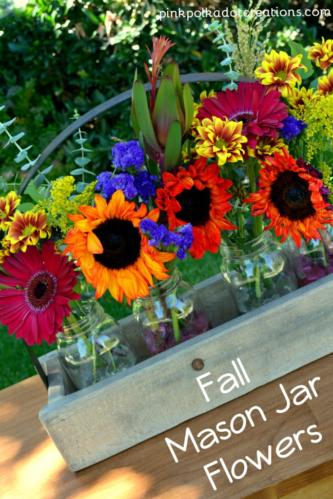fall mason jar flowers