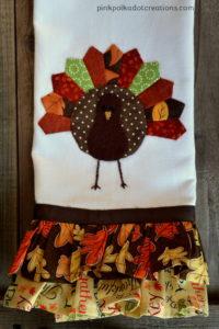 ruffled Thanksgiving dishtowels
