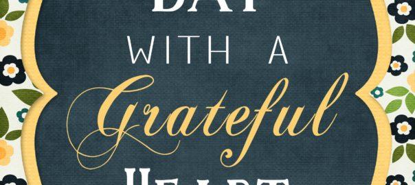 start each with a grateful heart