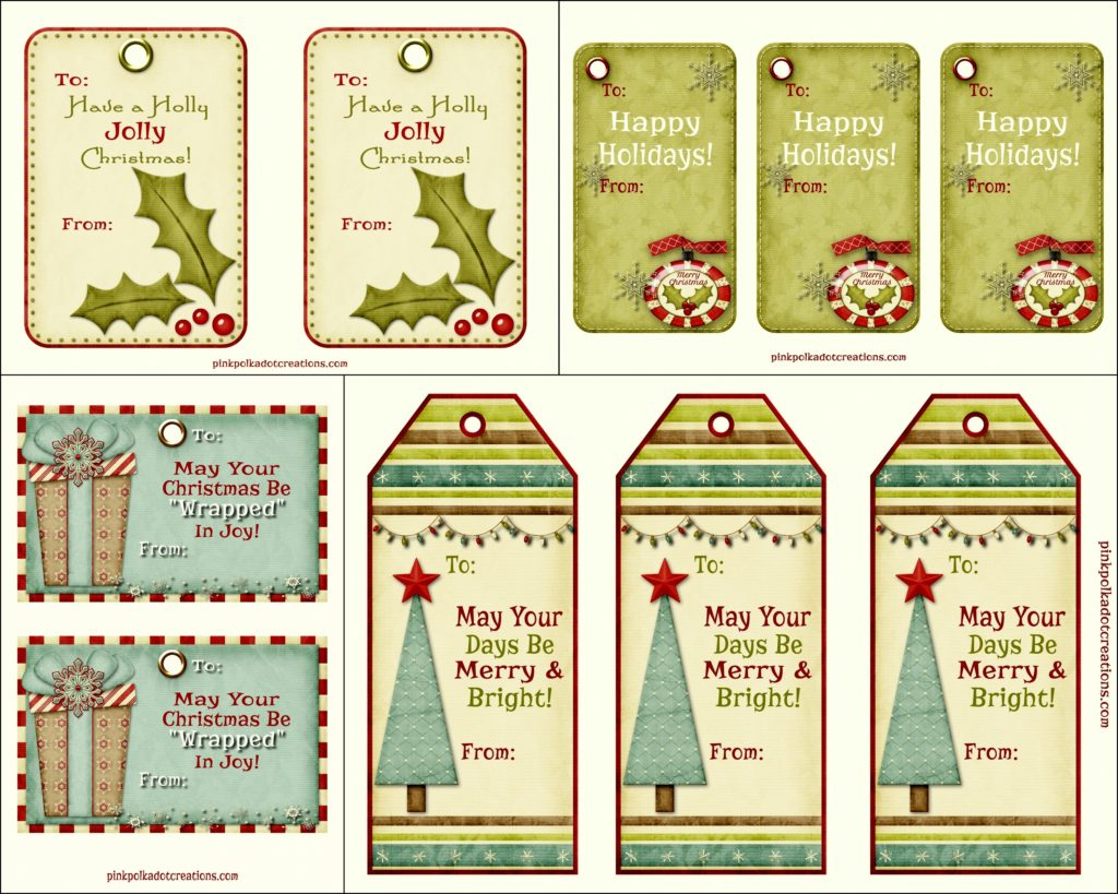 graphic about Free Printable Holiday Tags identified as cost-free printable family vacation tags Archives - Purple Polka Dot Creations