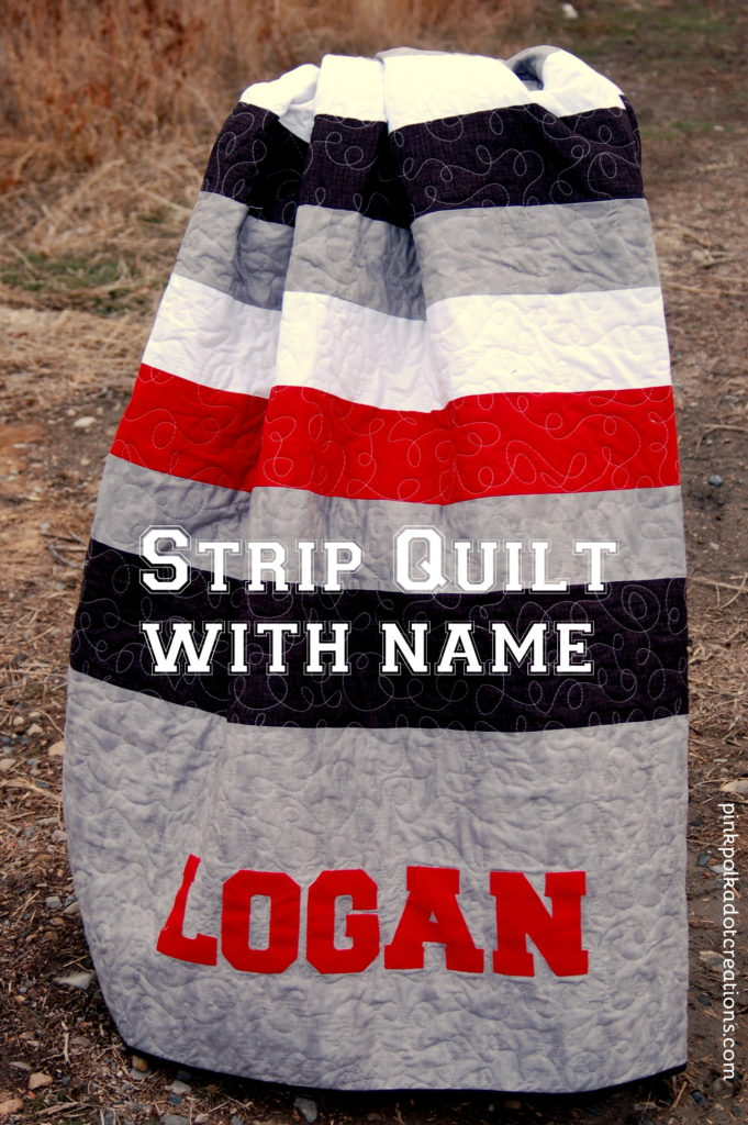 strip quilt with name