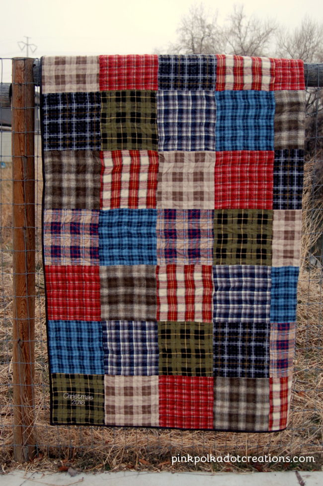Quilt Patterns For Flannel : Plaid Flannel Quilt - Pink Polka Dot Creations