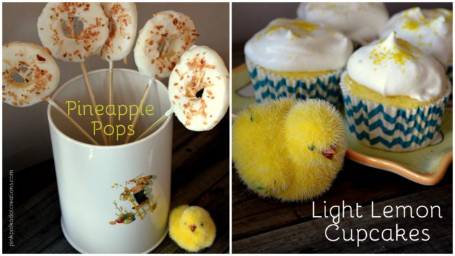 light lemon cupcakes and pineapple pops1