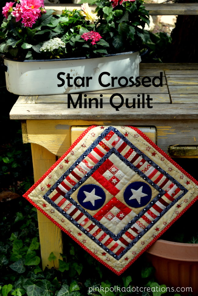 star crossed mini quilt