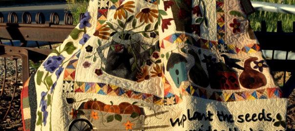 a primitive garden quilt