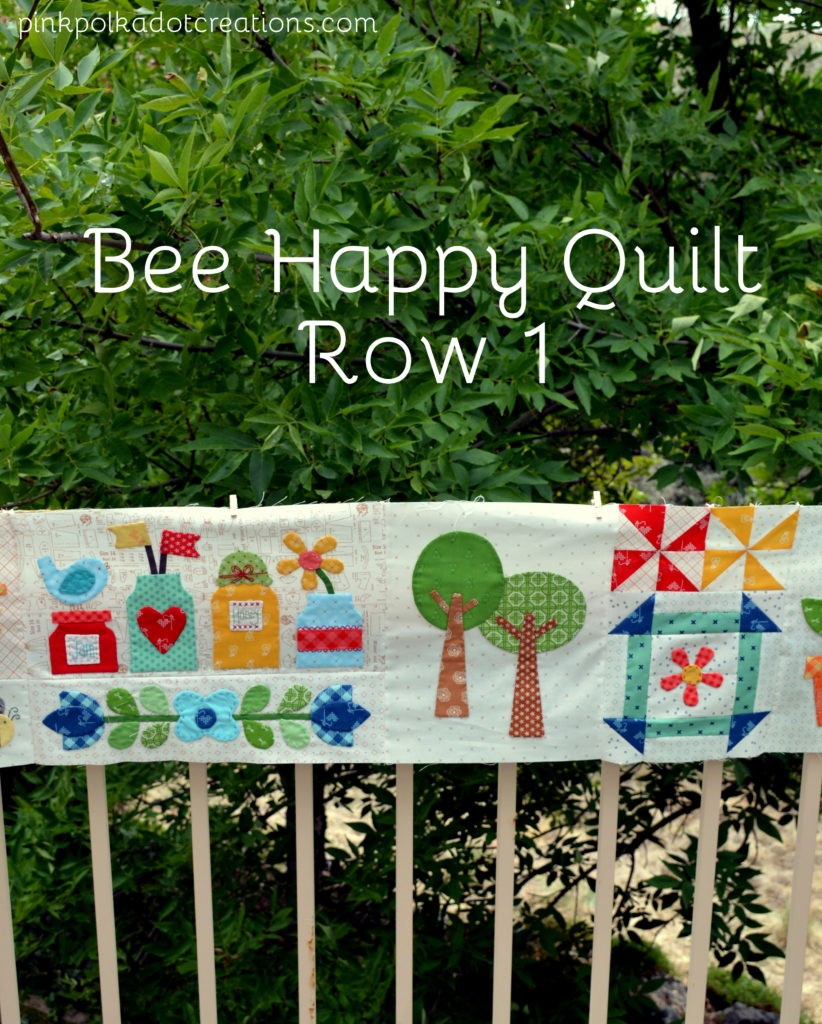 Bee Happy Quilt- row 1