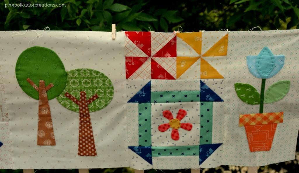bee happy quilt-row 1