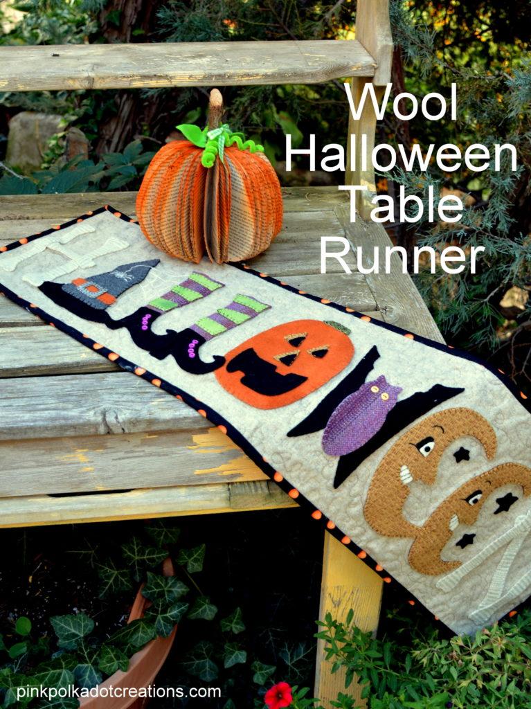 wool Halloween runner