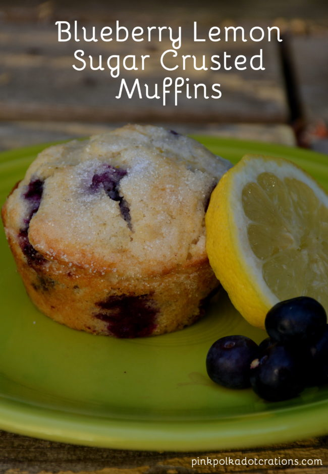 blueberry lemon sugar crusted muffins