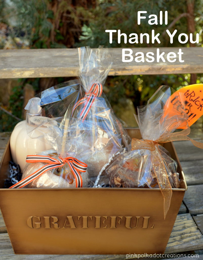 Fall thank you basket
