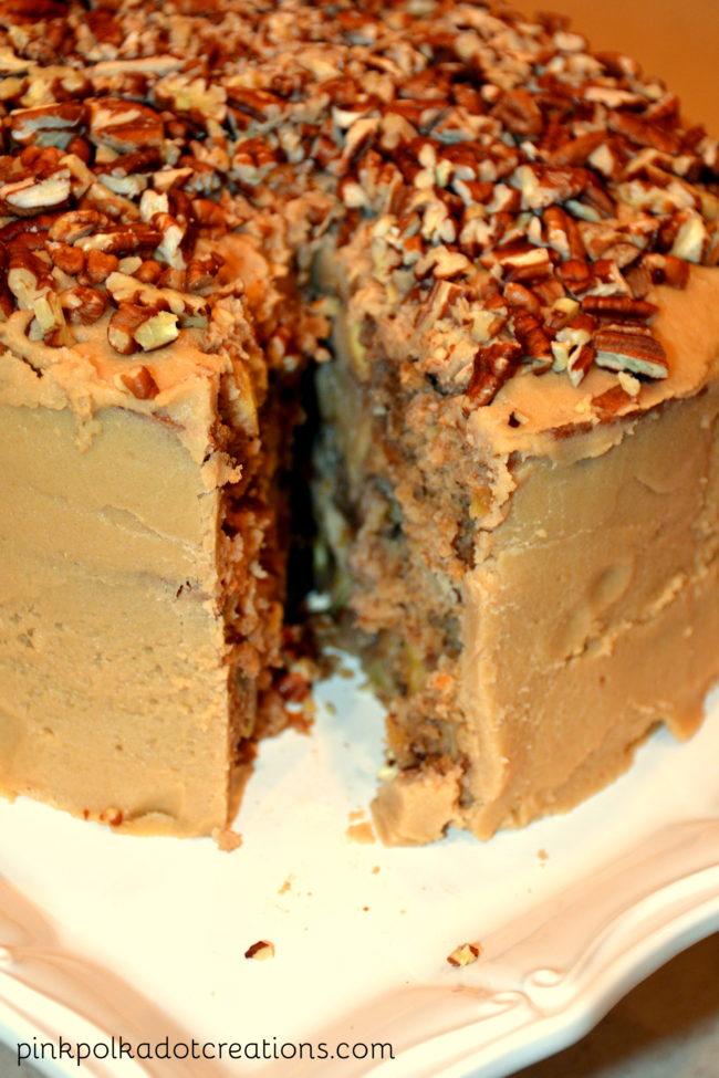 apple cake with salted caramel cake
