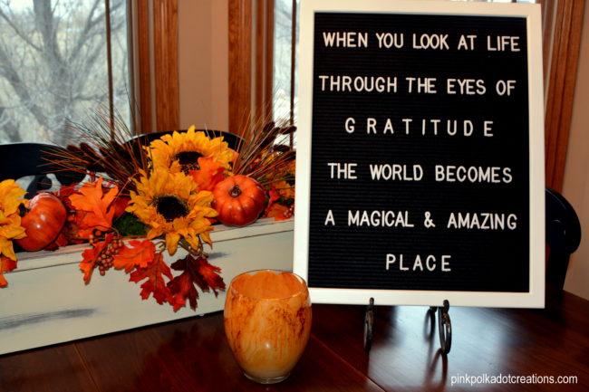 gratitude letter board